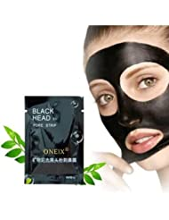4x Mineral Black Mud Face Nose Mask Blackhead Whitehead Removal Face Nasal Pores Membranes Cleasing Strips Cream Treatment by ONE1X®