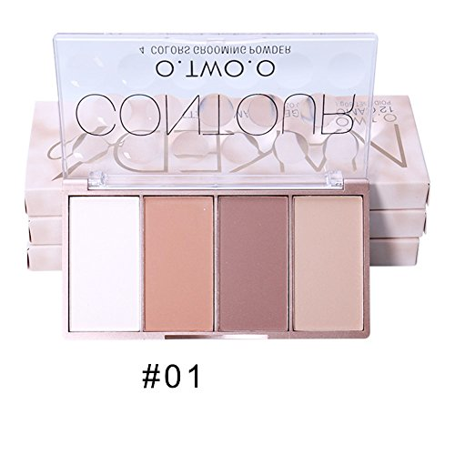 OYOTRIC 4 couleurs Face Contour Blush Bronzer Palette Flawless Blusher Powder Makeup