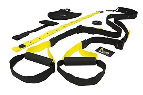 Schlingentrainer Set, ToWinle Suspension Trainer Basic Kit Sling Trainer mit Umlenkrolle Schlaufenhalterung und Türanker Professional Schlingentrainer für Ganzkörpertraining Zuhause oder im Fitnessstudio