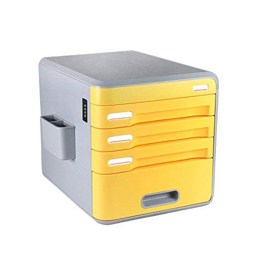 Archivador con 4 cajones,cerradura de combinacion escritorio cajón etiqueta, Evertop armario de archivo,archivador, armario para documentos, papeles, archivos, boligrafos, correos, tijera