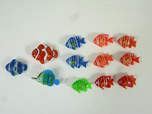 r Fisch-Set 12 tlg. bunte Ersatzfische Schwimmer Dekoartikel Aquarium Dekoration (Halloween Fish Tank Dekorationen)