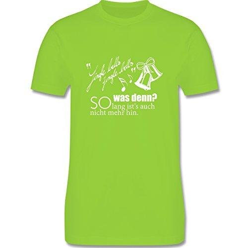 Weihnachten & Silvester - Jingle bells - so lang ist's auch nicht mehr hin - Herren Premium T-Shirt Hellgrün