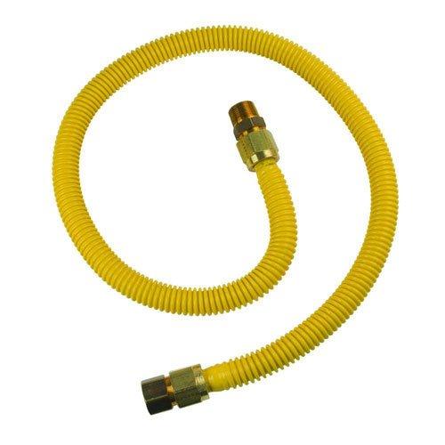 BrassCraft CSSB21-48 ProCoat 3/4 FIP x 3/4 MIP x 48 Stainless Steel Gas Connector 3/4 I.D. (215,000 BTU) by BrassCraft -