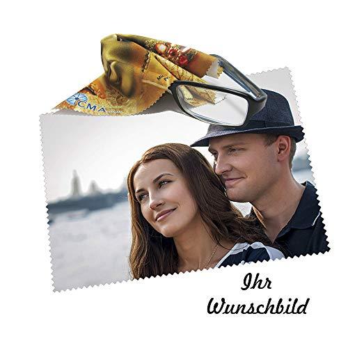 Brillenputztuch Geschenk Foto Putztuch Displayputztuch Mikrofasertuch mit Wunschbild Wunschtext Wunschfoto - Geburtstagsgeschenk