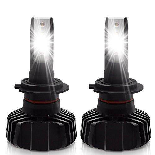 LncBoc H7 LED Lampadine Fari Anteriori per auto Fascio Alto/Basso 9000LM(4500LMx2) 6500K Luce Bianco Super Luminoso Lampada Impermeabile IP65 con Chip CSP DC9-24V