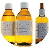 Preisvergleich für PureSilverH2O 600ml Kolloidales Silber (2X 250ml/25ppm) + Pipettenflasche (100ml/25ppm) Reinheit & Qualität seit...