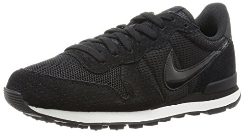 Nike Internationalist, Zapatillas Para Mujer, Negro (Black/Black/Dark Grey/Summit White), 37.5 EU