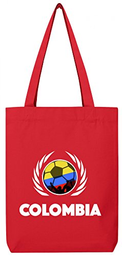 Colombia World Cup Football World Cup Tote Bag In Cotone Borsa Iuta Stanley Stella Football Colombia Rosso