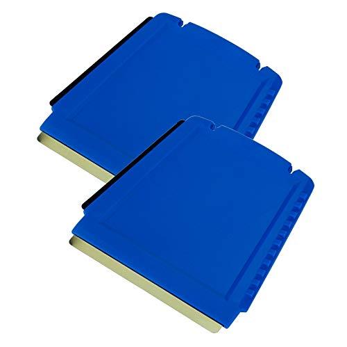 L&P Car Design GmbH LP A052-2 2 Eiskratzer Auto Murska Eisschaber Messing Messingschaber Original aus Finnland Top Qualität 90mm Kleiner praktischer Schaber 3 seitig Verschiedene Schabkanten (Blau)