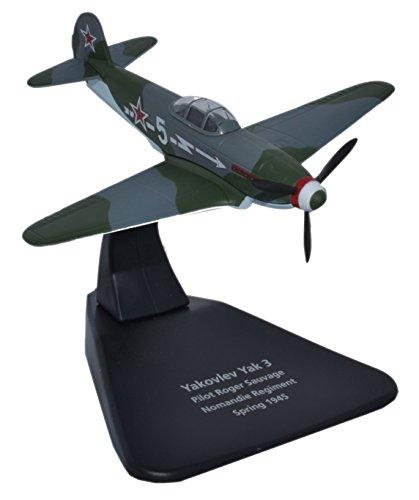 Herpa Oxford Diecast AC054 Yak 3 Regimiento de Normandía 1945 - 1:72 Escala Modelo fundidos a Troquel