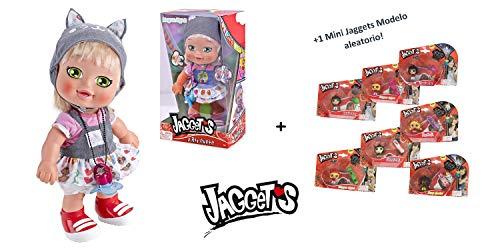Jaggets - Muñeca Megan Byte 14'/35cm en Caja (Famosa 700013785) + 1 Mini Luminosa Jaggets aleatoria 1'5'/4cm en Blister (Famosa 70014074)