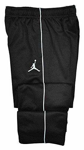 Nike Jordan Big Boys Therma-fit Jumpman Athletic Track Pants (Medium, Black/White)