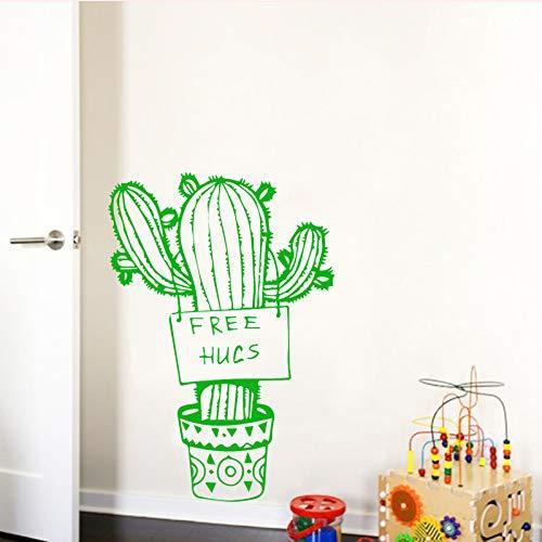 WSLIUXU Kaktus Muster Wandaufkleber Pvc Tapete Aufkleber Moderne Mode Dekoration Zubehör Wohnzimmer Schlafzimmer Wandaufkleber Hausgarten violett L 43 cm X 62 cm -