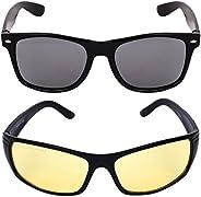 Criba Gradient Aviator Unisex Sunglasses - (pknk+nd yl_CRLK03|40|Black Color Lens)