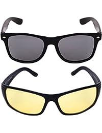 Criba Gradient Aviator Unisex Sunglasses - (pknk+nd yl_CRLK03 40 Black Color Lens)