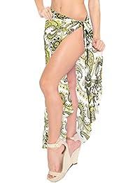 LA LEELA Envolver Resortwear Encubrir Pareo Falda Pareo Las Mujeres Ropa de Playa Traje de baño Traje de baño