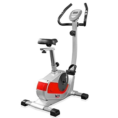 We R Sports Premium Magnetic Exercise Bike Gym Fitness Cardio Workout Weight Loss Machine - Grey from We R Sports®