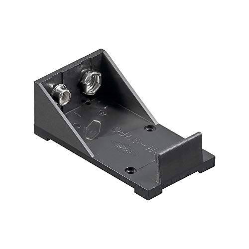 GOOBAY 1x 9V Block Battery Holder, black - Solder tail (U)