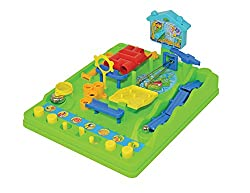 Determination, agile fingers, and an alert mind are required for Screwball Scramble, a cleverly designed tabletop obstacle course game. The object of the game is to move a small steel ball through eight hurdles as quickly as possible by hitting, push...