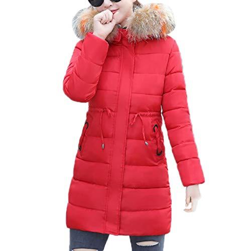 Luckycat Damen Daunenjacke Warme Winterjacke Parka Jacke Mantel Lange Mit Fellkapuze Gesteppte Jacke Wintermantel Langjacke Oberbekleidung