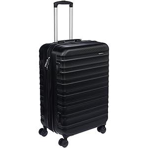 AmazonBasics Hardside Luggage Suitcase - 68cm, Black
