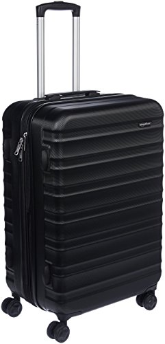 AmazonBasics Rigid Swivel Travel Suitcase - 68 cm, schwarz