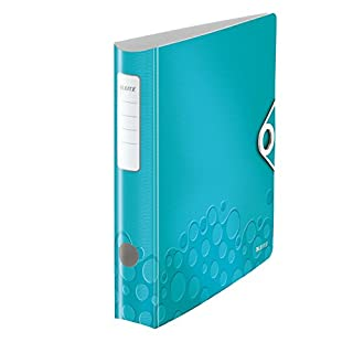 Leitz Ordner WOW 60460095 DIN A4 , eisblau metallic , 65 mm