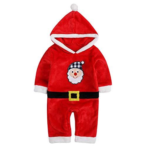 Wanlianer Abito Natalizio Costume da Babbo Natale per Bambini Costume da Babbo Natale Abbigliamento per Bambini di Natale (Dimensione : 90cm)
