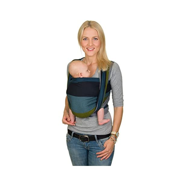 Hoppediz Woven Baby Sling (460 x 70 cm, Aberdeen) Hoppediz Suitable from birth until parent or child chooses to stop carrying 100% cotton Special broken twill weave 1