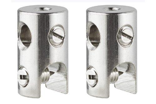 Paulmann 978019 WS L&E Seilklotz Seilsysteme 2er Pack max.150W/Stange max.300W Chrom 12V Met