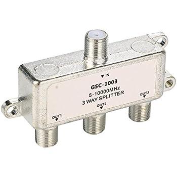 XCSOURCE Câble Antenne Répartiteur Commutateur HDTV TV 3 Voies 51000 MHz F Type Répartiteur BI127