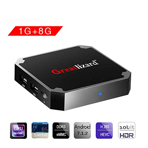 X96 Mini Smart TV Box Android, 7.1, Wingogo 1GB 8GB AMLOGIC Quad Core 2.4GHz WiFi 4 K Smart Set Top Box