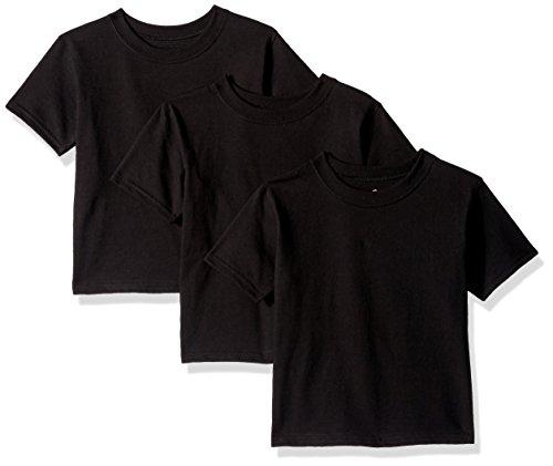 Hanes ComfortSoft Toddler Crewneck T-Shirt 3-Pack 2T Black (Toddler-shirts Hanes)