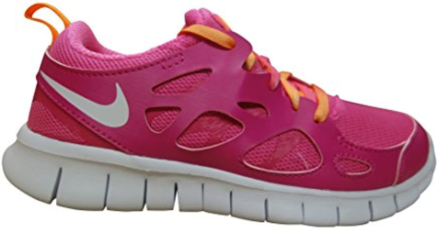 NIKE Free Run 2 (GS) Running Trainers 477701 Sneakers Shoes (US 6 Big Kid  Vivid Pink White Bright Citrus Pink
