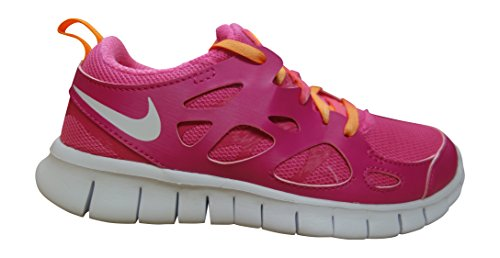 NIKE Free Run 2 (GS) Running Trainers 477701 Sneakers Shoes (US 6 Big Kid, Vivid Pink White Bright Citrus Pink 603)