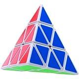 Nouveau Shengshou Triangle Pyramide Cube de vitesse Solide Conique Speedcube Puzzle Blanc Glisse
