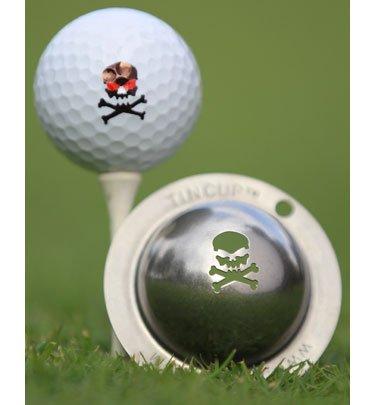 Dose Cup das Jolly Roger Golf Ball Markierung Schablone, Stahl -