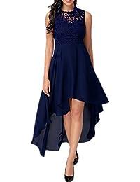 Dreamskull Damen Frauen Chiffon Günstige Abendkleider Abendmode Etuikleid  Partykleid Cocktailkleid Kleid Knielang… aa1d4d126a