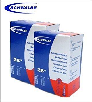 """2 x Schwalbe Fahrradschlauch 26\"""" SV13 Sclaverandventil Schlauch - 01150102C"""