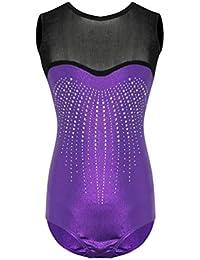 e596444ff234 Dooxii Ragazza Flessibile Senza Maniche Body Costumi di Danza Balletto  Ginnastica