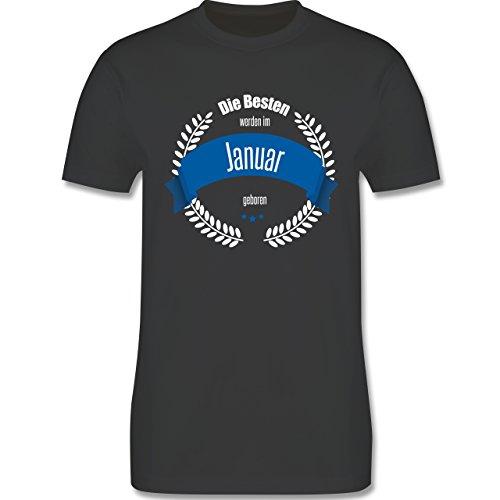 Geburtstag - Die Besten werden im Januar geboren - Herren Premium T-Shirt Dunkelgrau