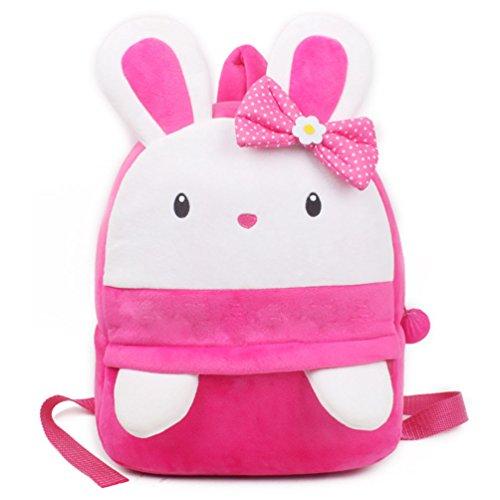 (Kaninchen Rucksack, kleine Mädchen Kleinkind Mini Rucksack, URAQT niedlichen Kaninchen bequeme weiche Tasche, Geschenk für 3-5 Jahre alte Kinder für Outdoor / Sports / Camping / Picknick Rucksäcke)