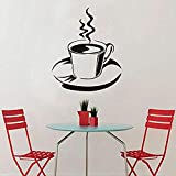 Zbzmm Wallsticker Home Bedroom Wall Sticker Steam Coffee for Kitchen Self Adhesive Dig Removable Vinyl Wall Sticker Home Decoration Accessories 59 * 68 cm