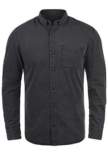 Produkt pepito Herren Jeanshemd Denim Shirt mit Kentkragen Aus 100% Baumwolle, Größe:XL, Farbe:Medium Grey Denim
