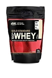 Optimum Nutrition Whey Gold Standard Protein, Vanilla, 1er Pack (1 x 450g)