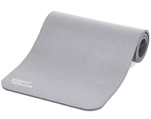 Planet Fitness Ultradicke Mehrzweck-Übungsmatte mit Microban Antimikrobielle Technologie und rutschfestem Griff -