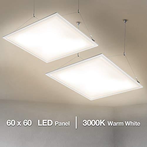 Lighting EVER Lot de 2 Dalle LED 60x60 Blanc Chaud 3000k,...