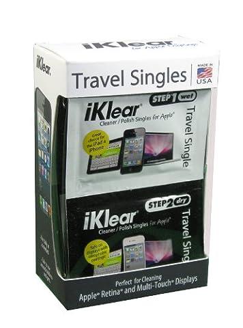 iKlear Pack de 12 chiffons nettoyants Travel Singles emballés individuellement