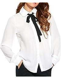 Amazon Fr Cravate Chemisiers Et Blouses T Shirts Tops Et