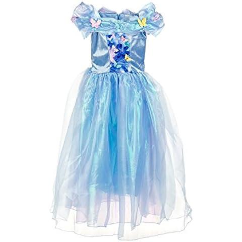 Vestido de la princesa Cenicienta para niñas - Disfraz para niñas por Fairy Tale Designs - Edades 5-6
